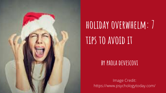 holiday overwhelm